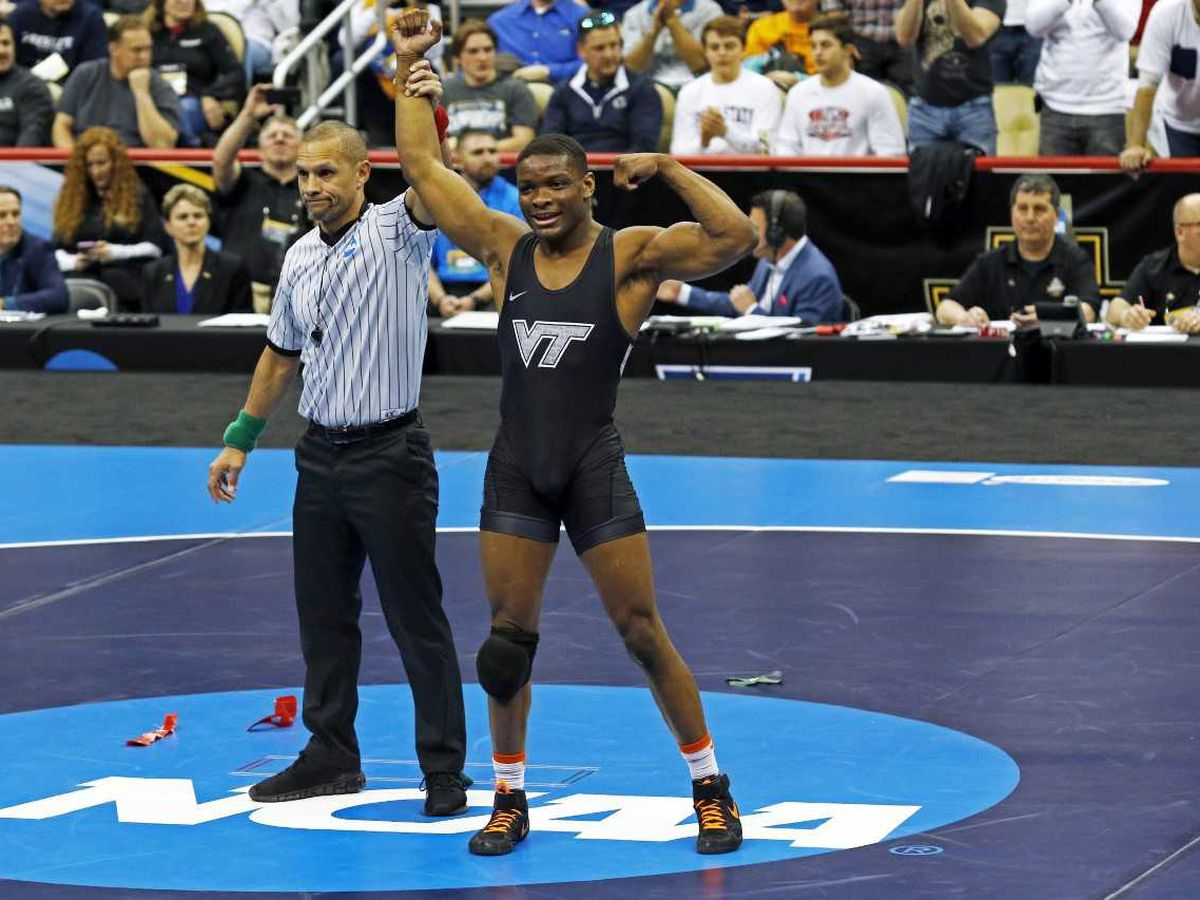 Virginia Tech freshman wins NCAA wrestling title