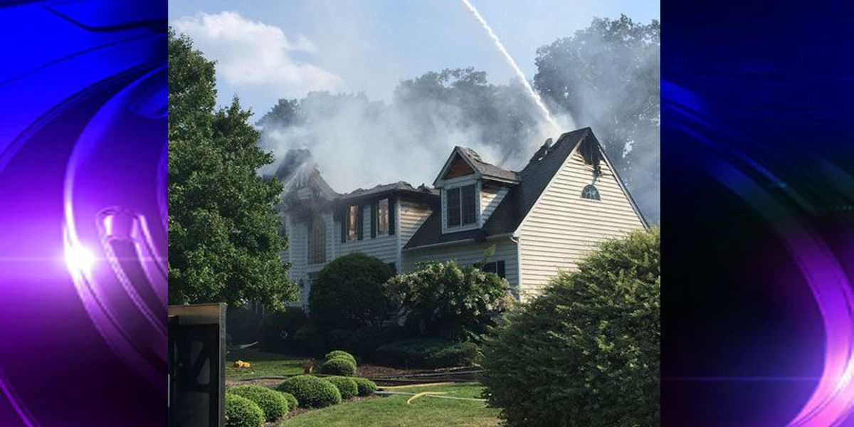 Chesterfield crews fighting Midlothian house fire