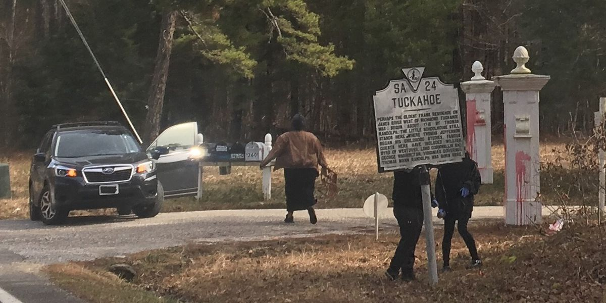 Sheriff's office searching for Tuckahoe Plantation vandals