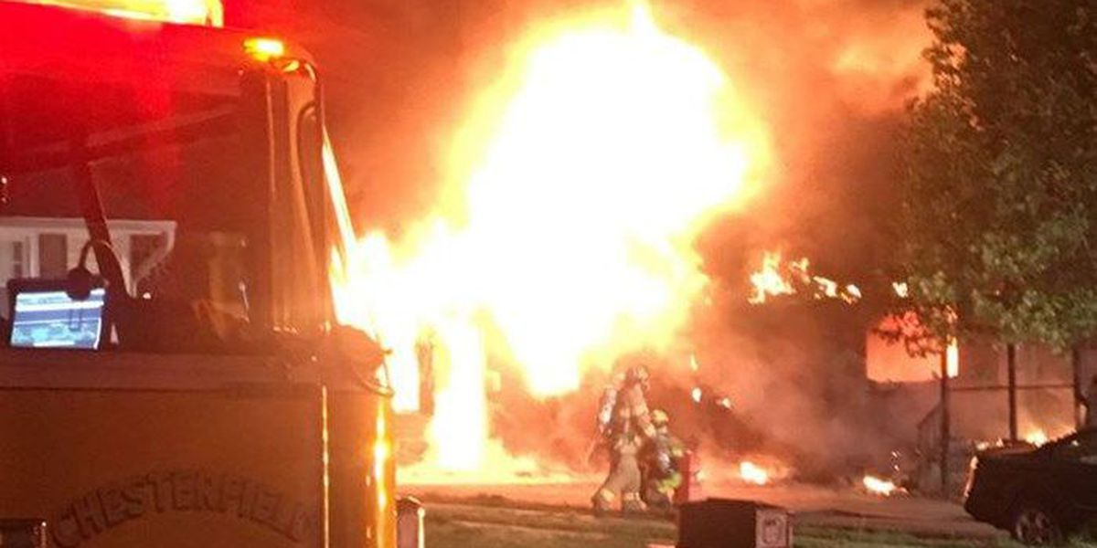 1 displaced in fire at Chesterfield home