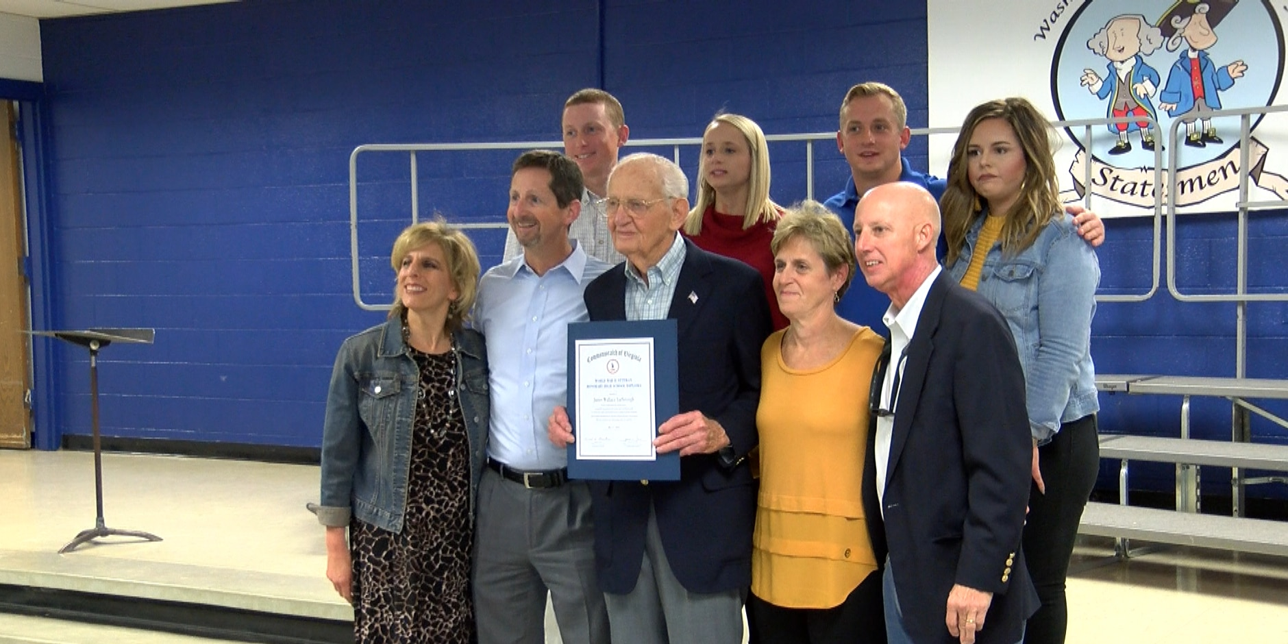 'It's quite an honor': 93-year-old veteran receives honorary high school diploma