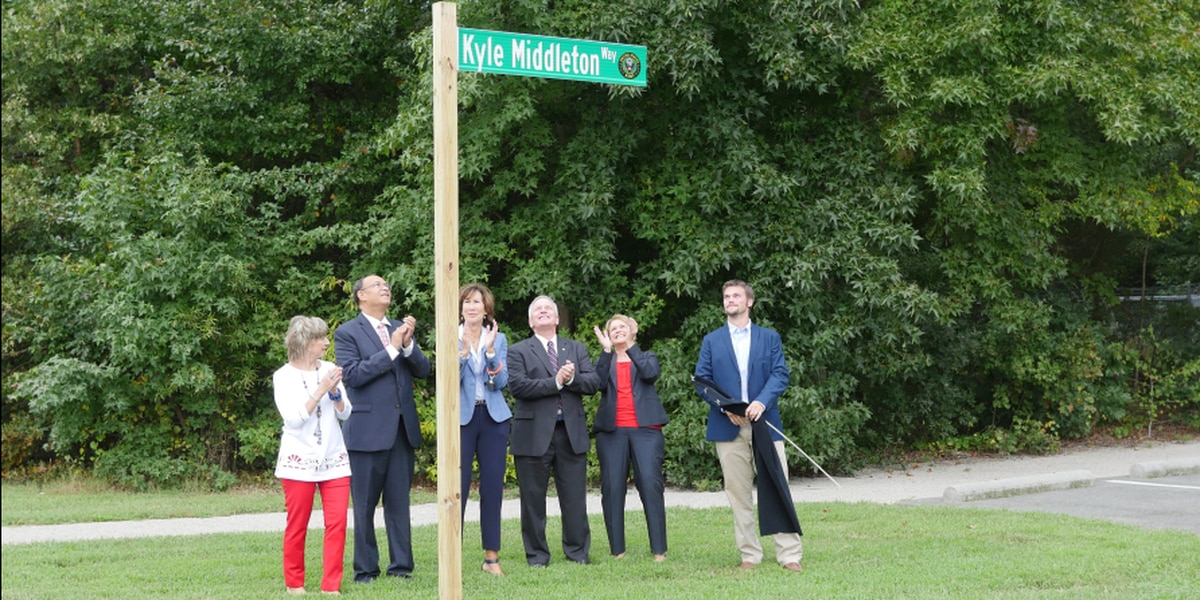 Chesterfield road named in honor of fallen military soldier