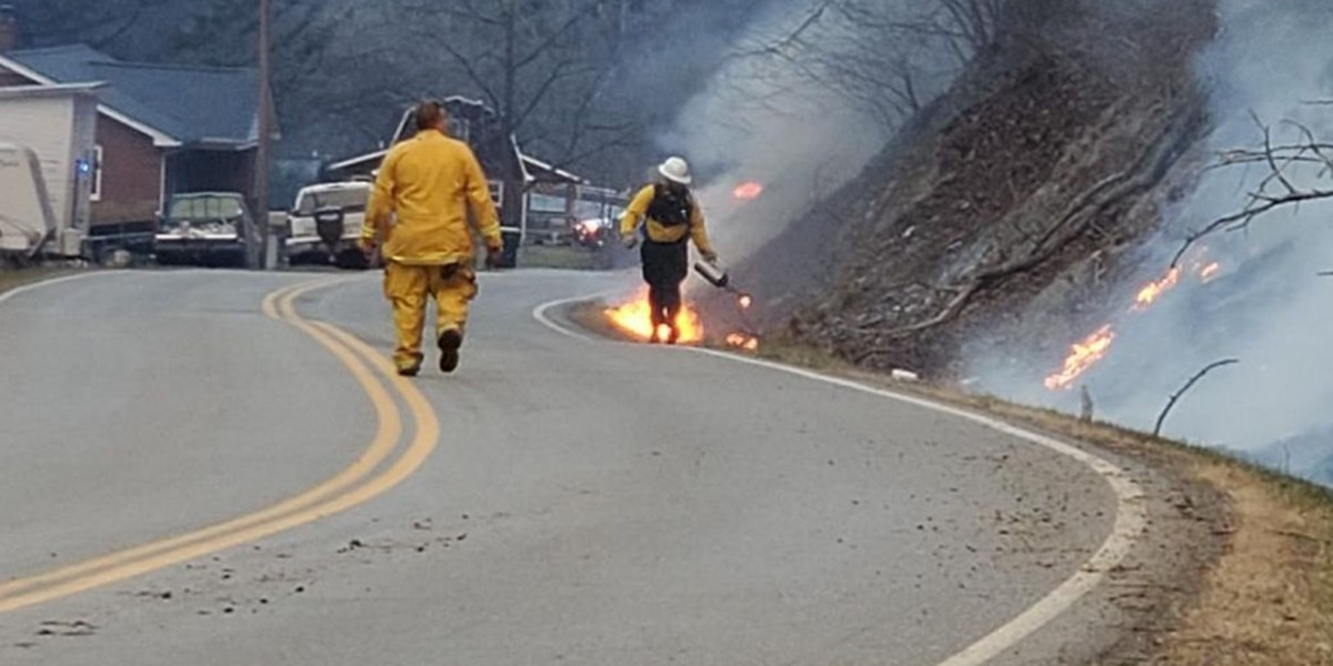 Crews respond to 10-acre brushfire in Hillsville Sunday