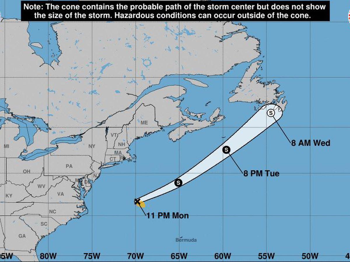 Tropical Storm Bill forms far off coast of North Carolina