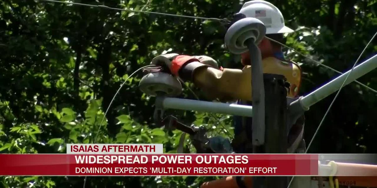 Widespread power outages, Dominion expects 'multi-day restoration' effort