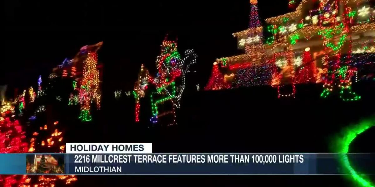 Midlothian home features more than 100,000 lights