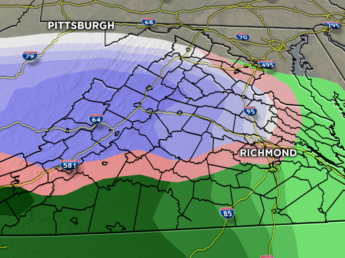 First Alert: Snow early Wednesday, then ice to rain