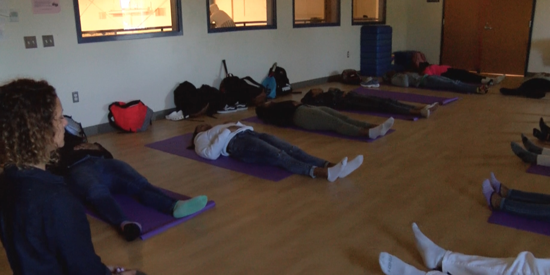 Students meditate, relax through 'Varina On Chill' class