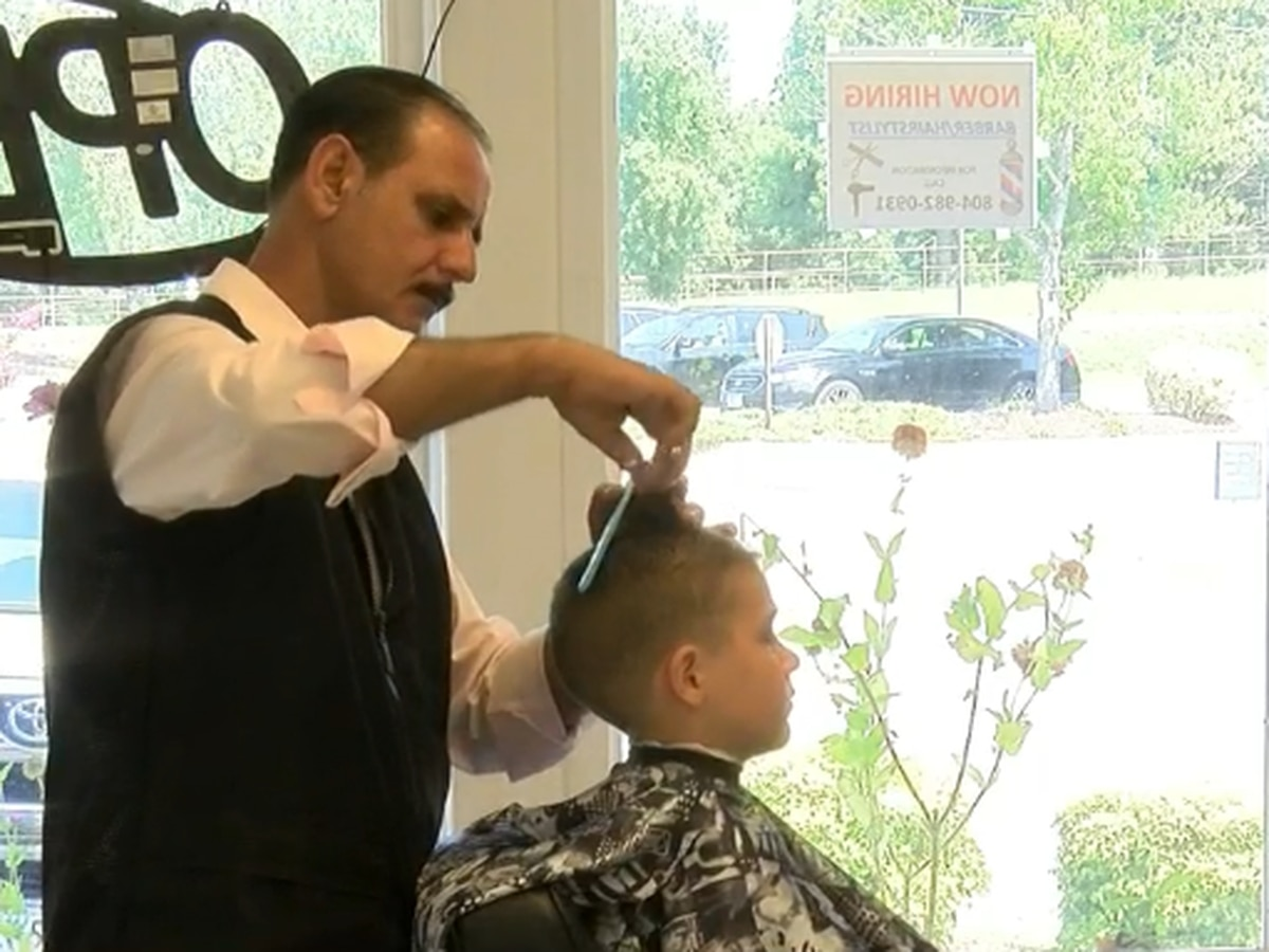 Henrico barbershop cutting children's hair for free
