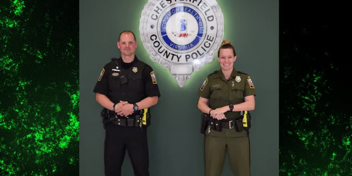Chesterfield police officers wearing new uniforms