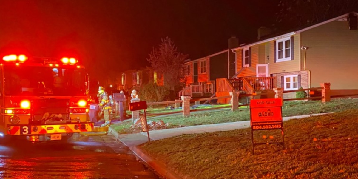 Four people displaced after house fire in Chesterfield