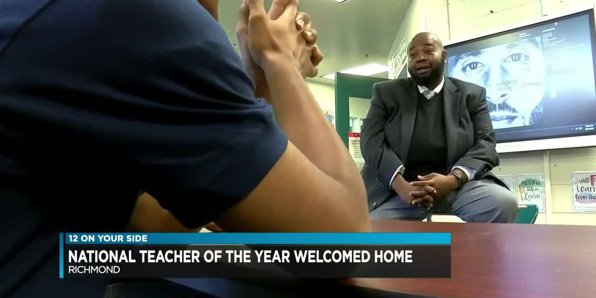 National Teacher of the Year welcomed home