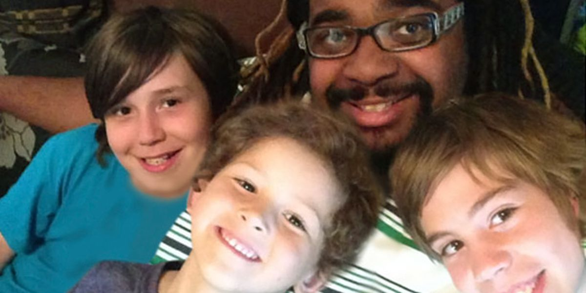 'I just wanted to help': Young black dad raising three white sons