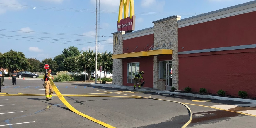 Chesterfield McDonald's evacuated after bathroom fire