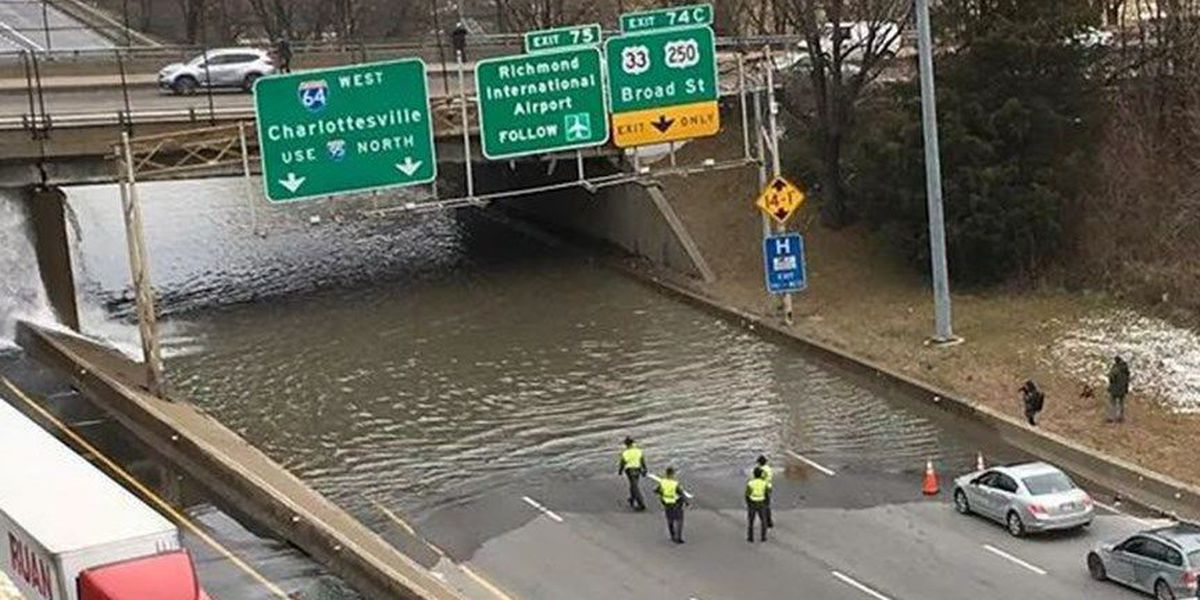 Lane of I-95 reopens after water leaks onto roadway