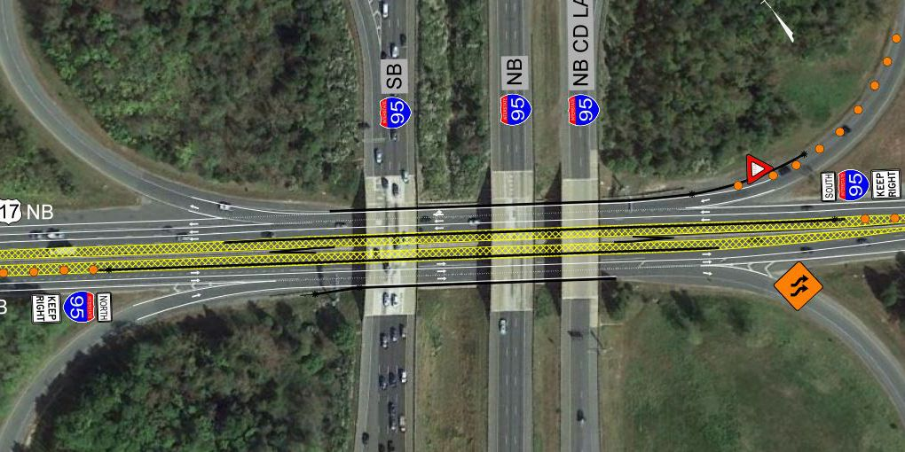 Lanes of Route 17 to close for overpass construction