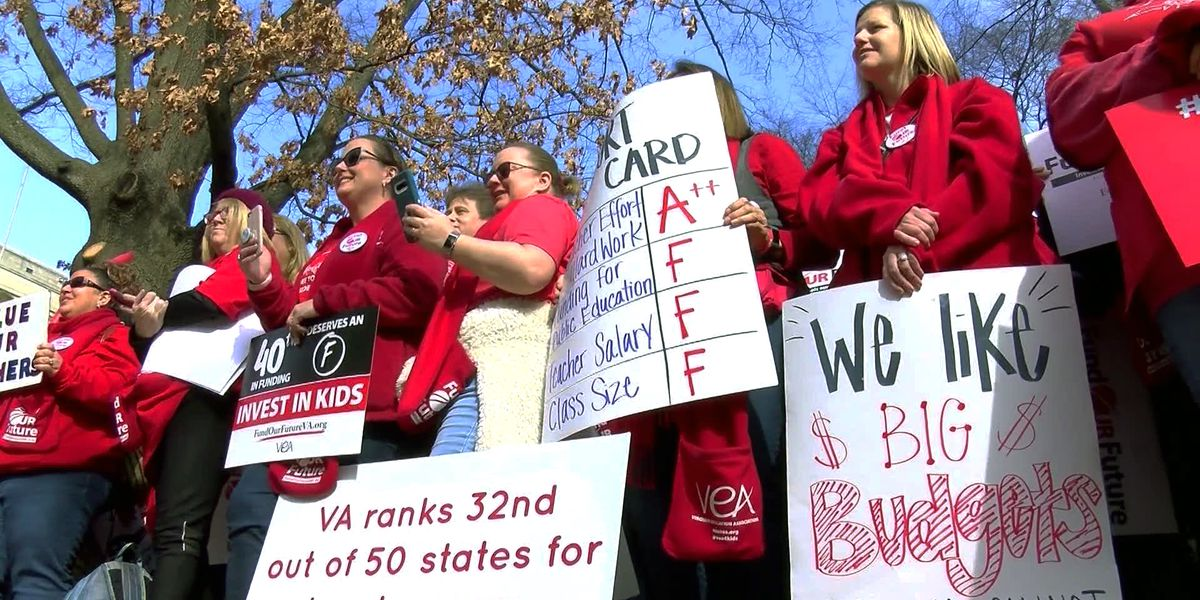More than 2,000 educators gather at the Capitol for 'Fund our Future' rally
