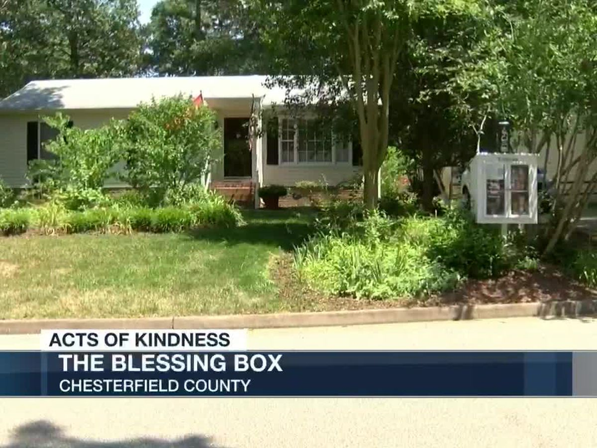 Woman creates 'Blessing Box' to help others in need