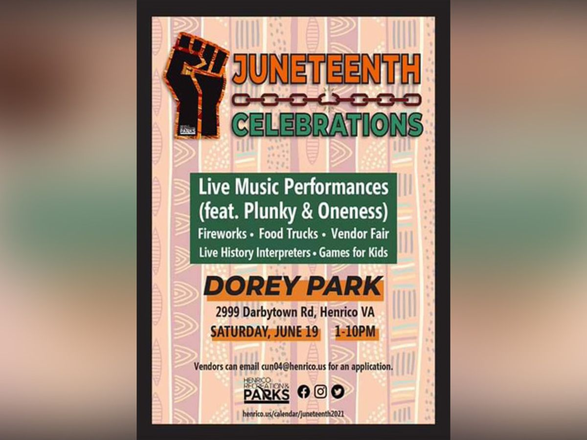 Henrico announces Juneteenth Celebrations at Dorey Park