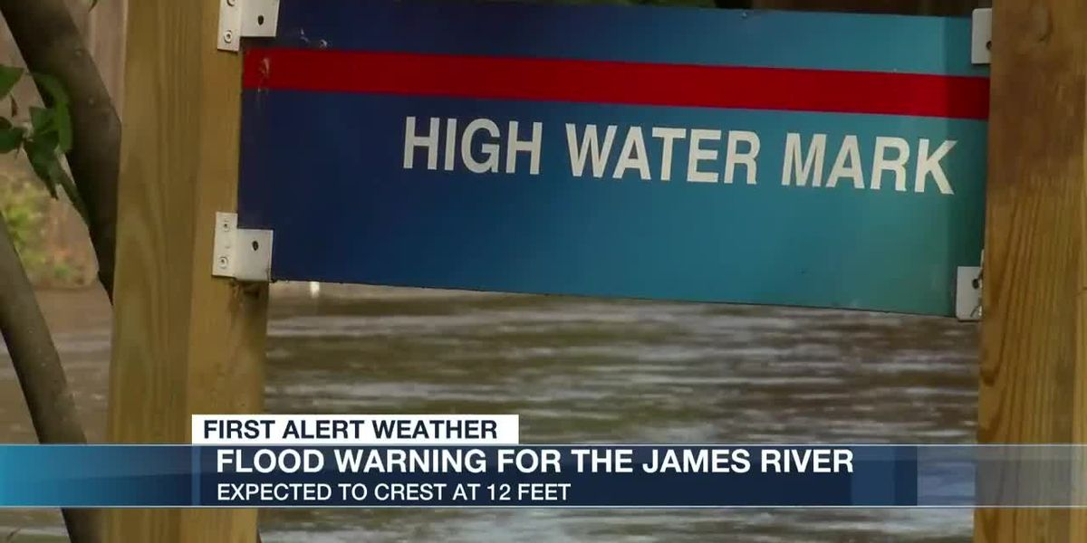 James River expected to reach minor flood stage over holiday weekend