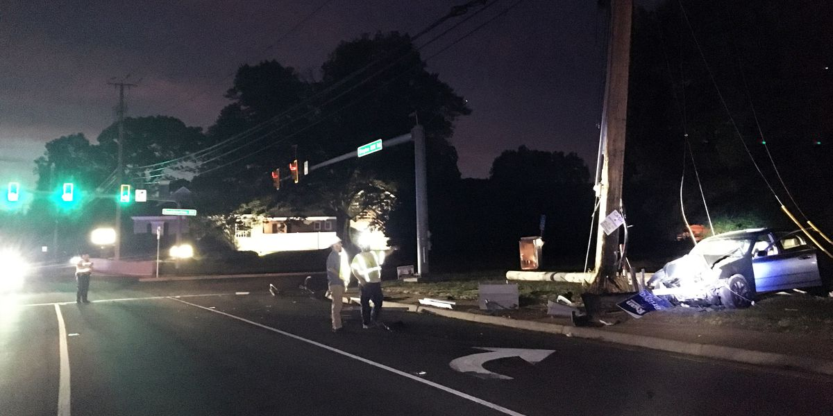 Road closures expected overnight in Henrico after driver crashes into utility pole