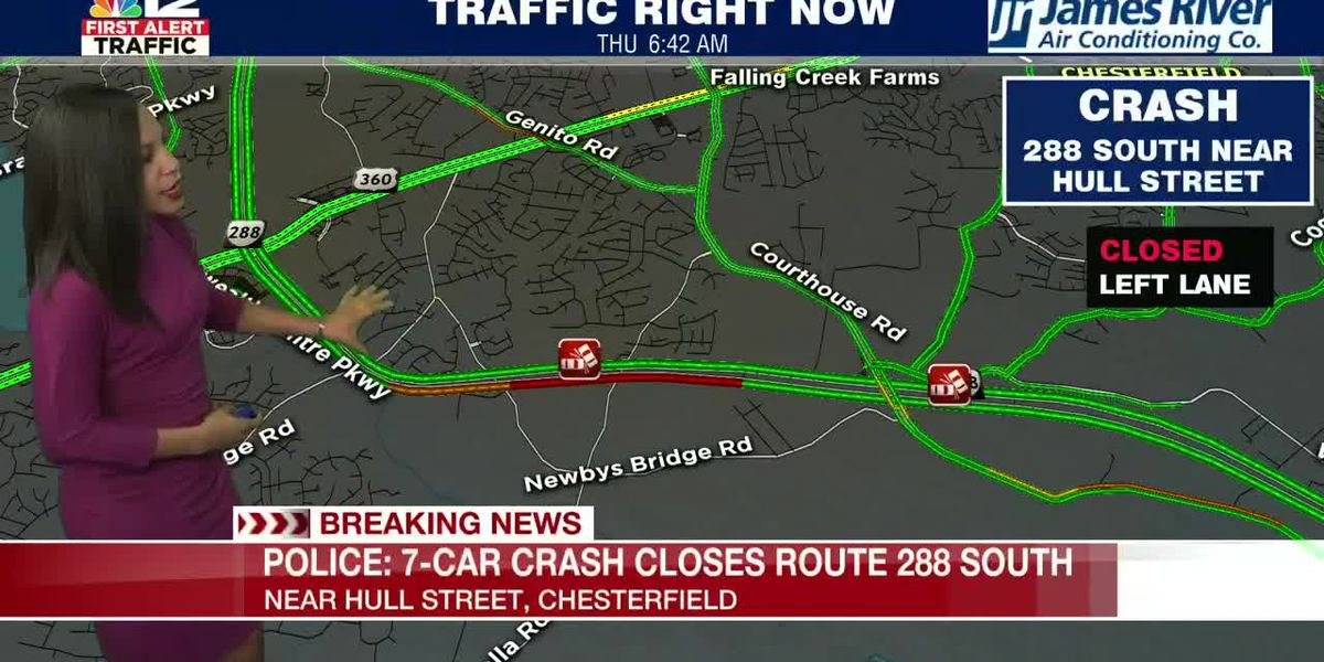 Multiple vehicles involved in crash on Route 288