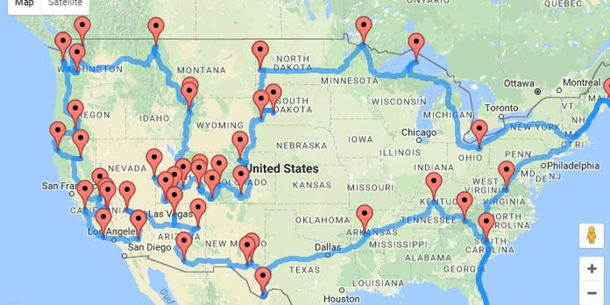 This road trip will allow you to see all 47 national parks in continental U.S.