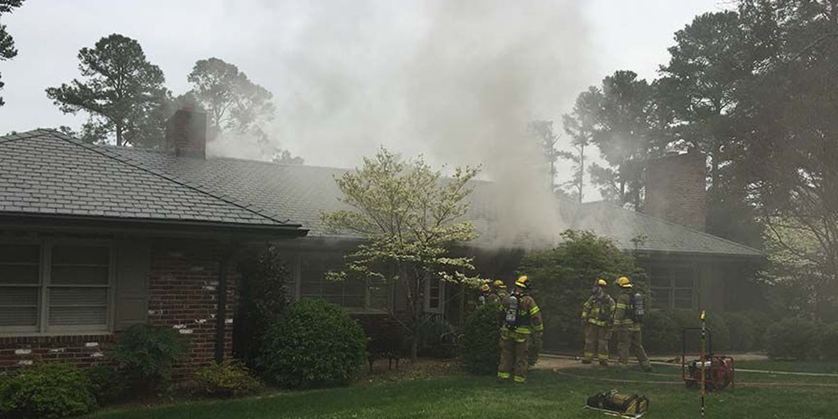 Henrico crews rescue dog from house fire in West End