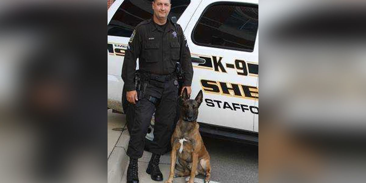 Stafford K-9 team awarded for tracking down, apprehending armed suspect in woods