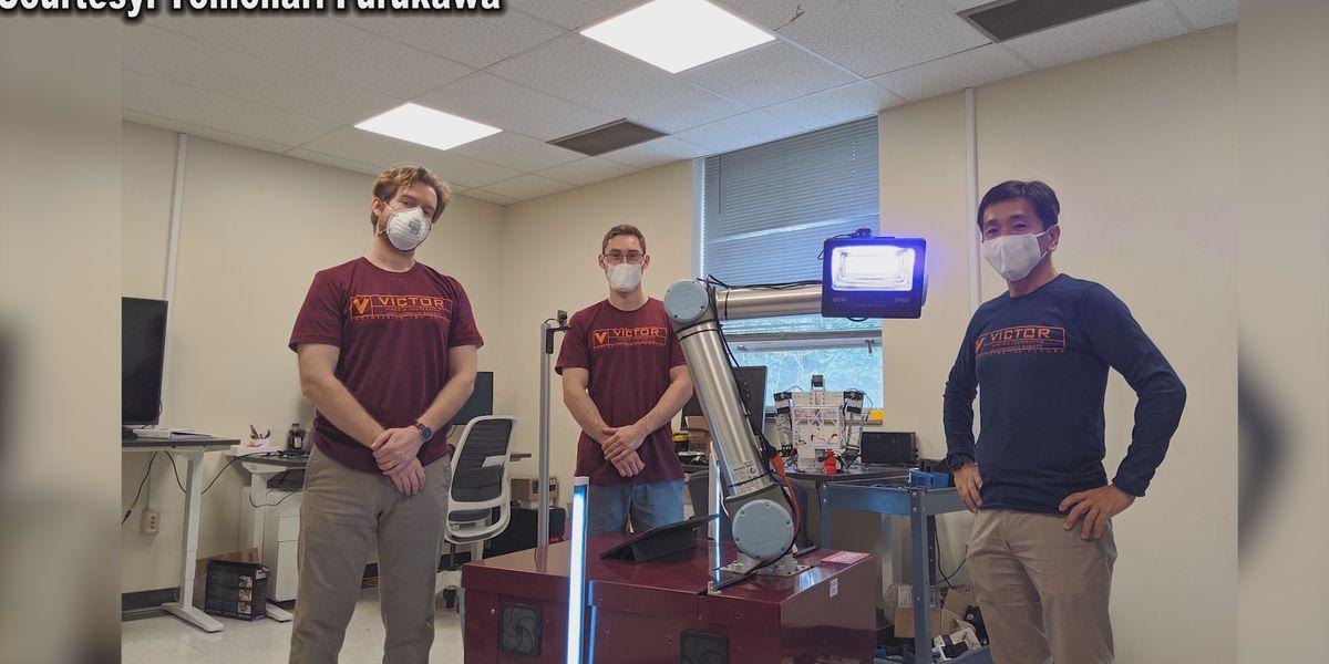 Team at UVA creates robot to help prevent spread of COVID-19