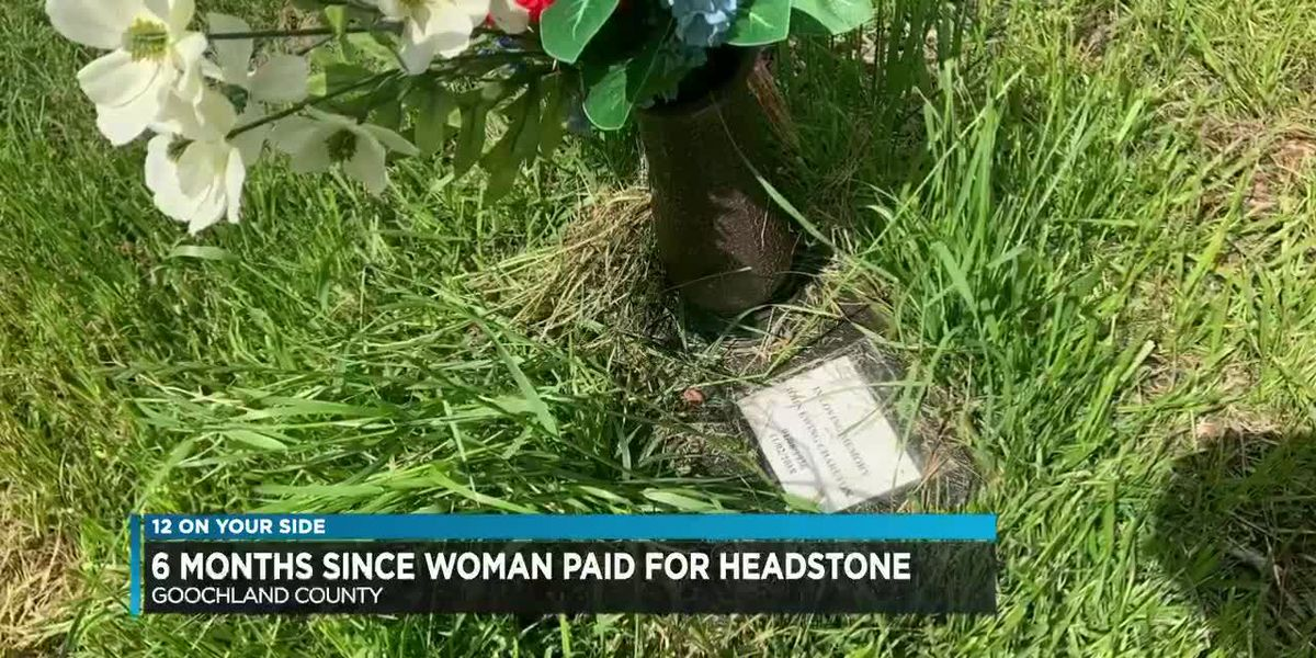 Small piece of paper marks $15,000 grave site, 7 months after purchase