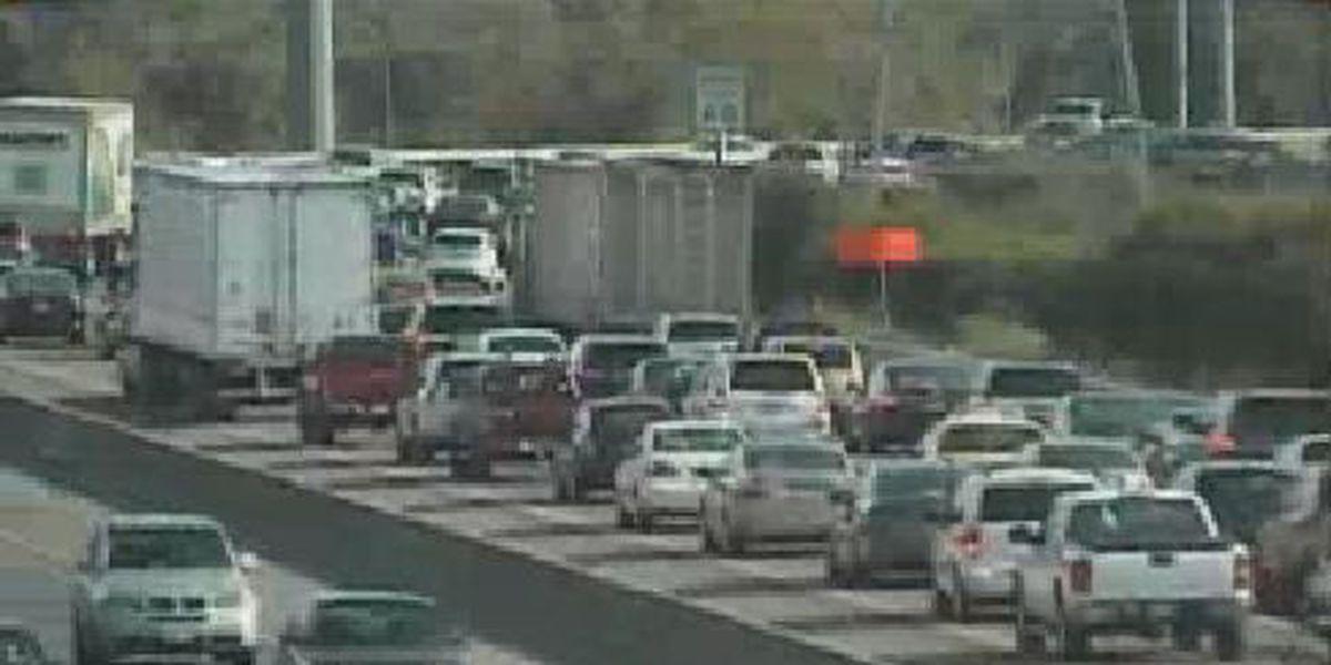 Crash involving bus brings big rush hour delays on I-95
