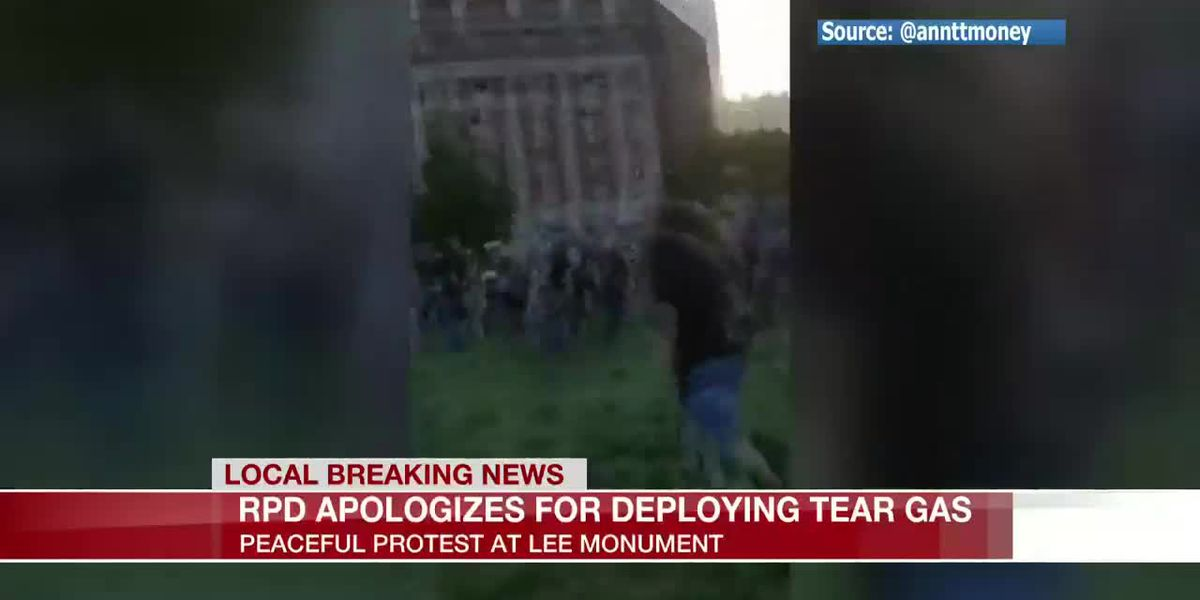 Tear gas deployed on protesters on Monument Avenue