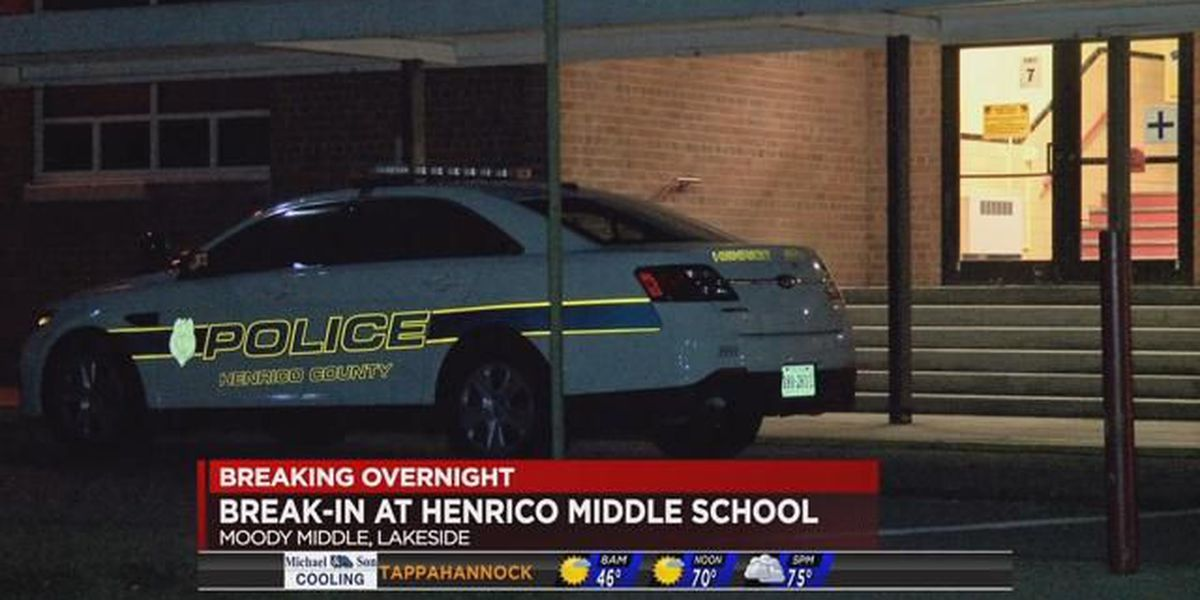Suspect on the run after breaking into Moody Middle