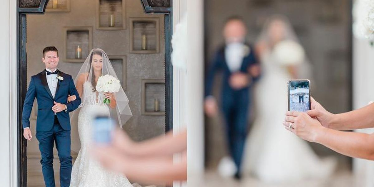 'Turn off your phone!' More brides asking for 'unplugged' wedding ceremony