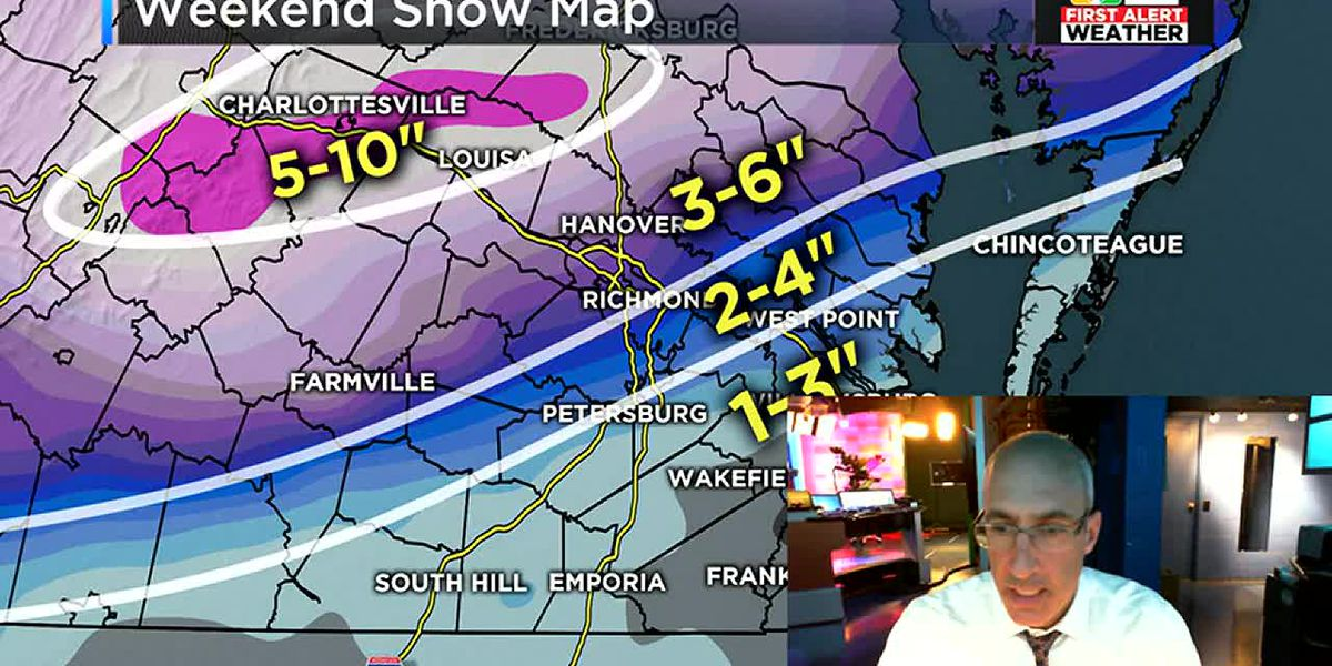 Significant snow likely for Richmond metro this weekend