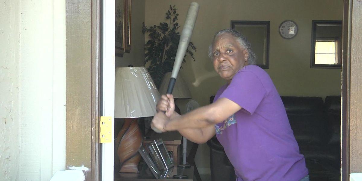 Florida woman, 65, fends off half-naked burglar with baseball bat