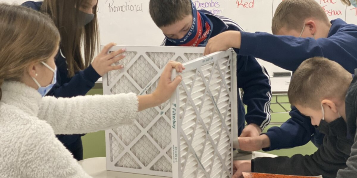 Carmel School students build air filters for campus buildings