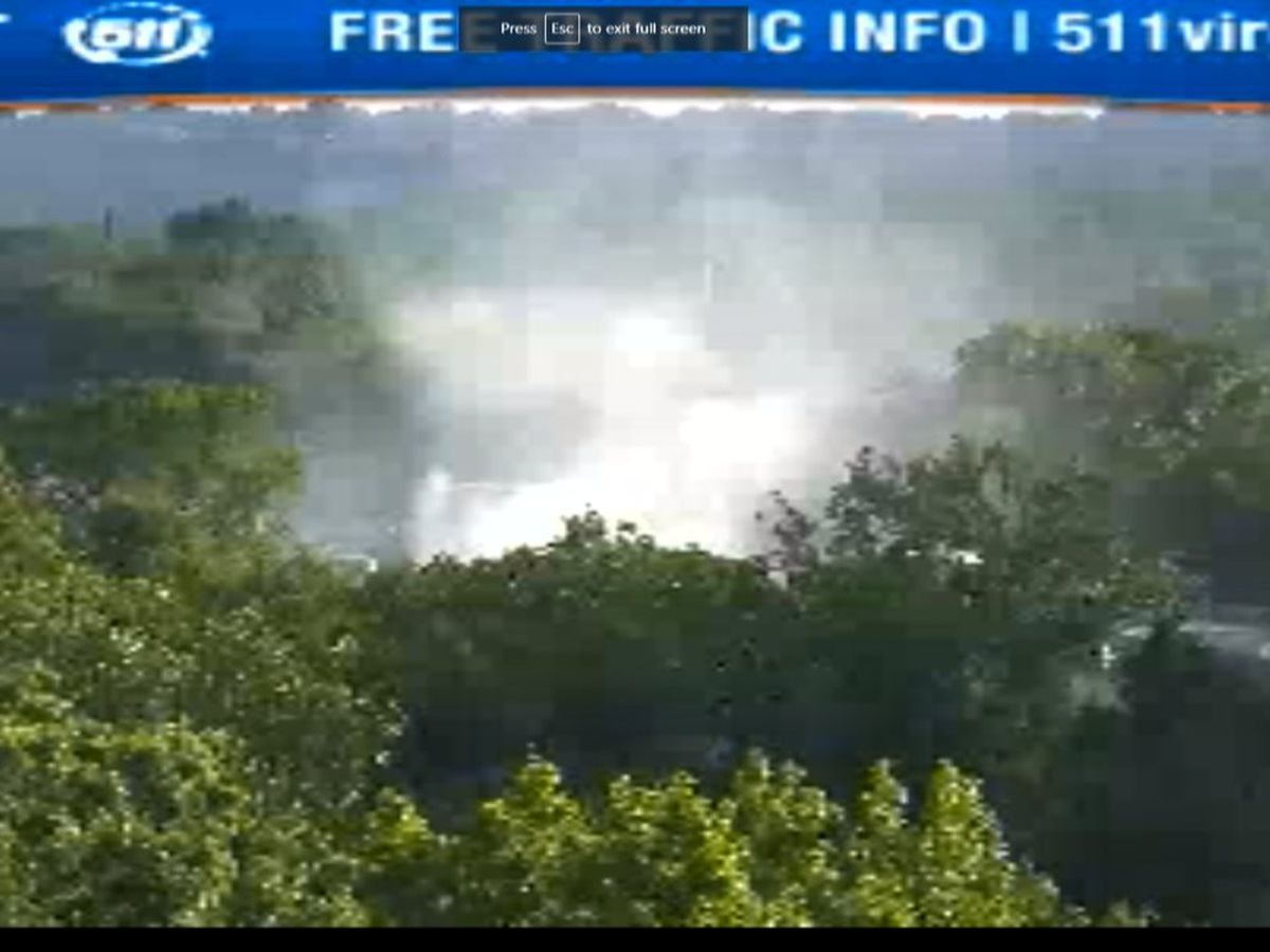 Vehicle fire slows morning traffic on southbound I-95