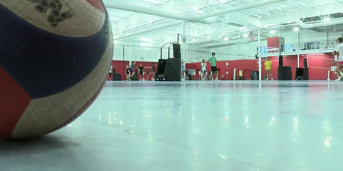 High school volleyball players get back on the court