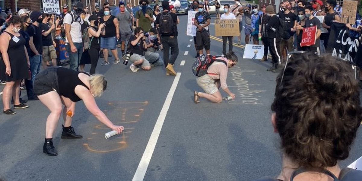 UPDATE: Protesters' vandalism costs Charlottesville $19,000 in cleanup, milling, paving