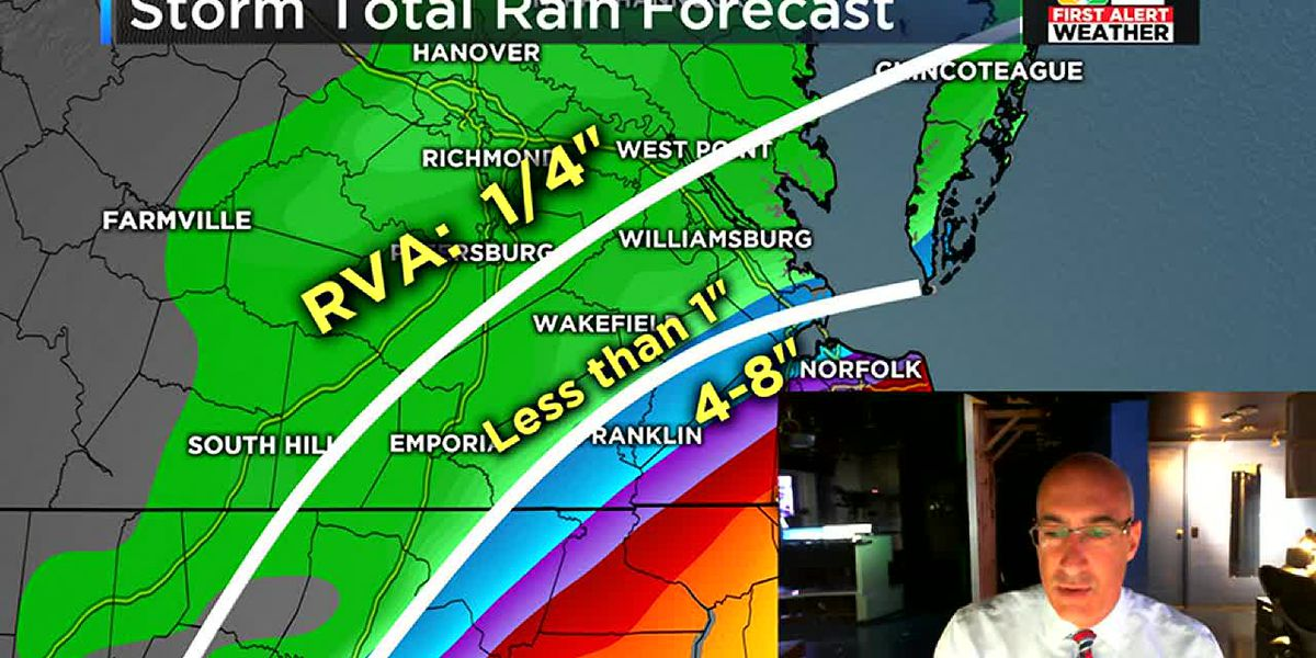 Dorian's threat is dropping in RVA fast