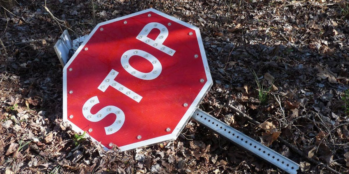 Man arrested after stealing stop sign in Goochland