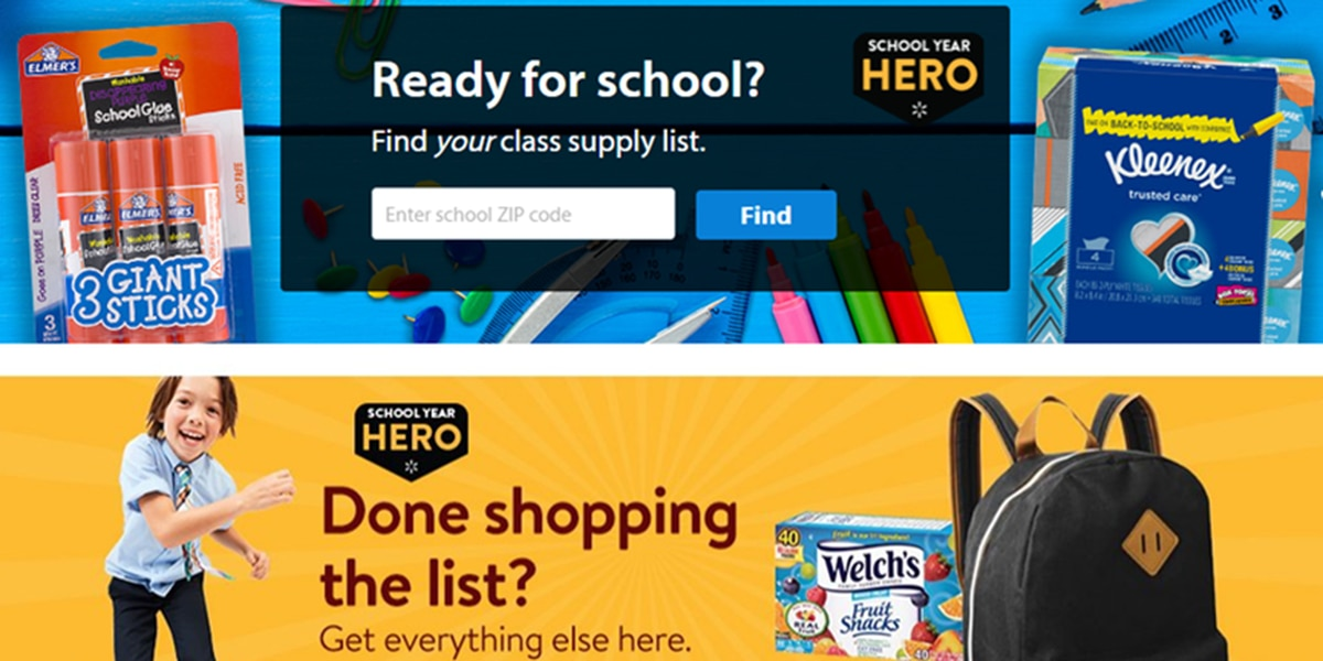 Back-to-school savings: Walmart tool helps you find essentials