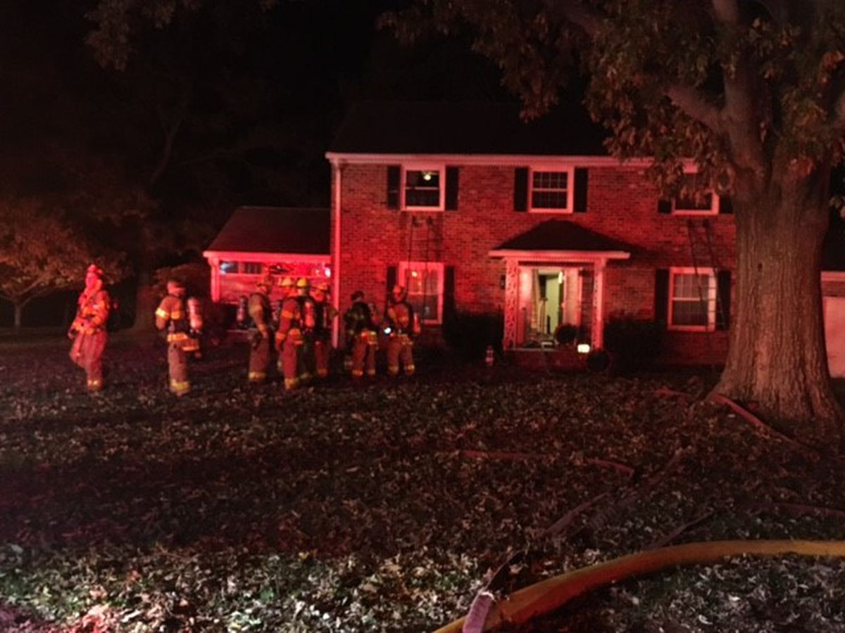 Richmond, Chesterfield crews respond to house fire overnight