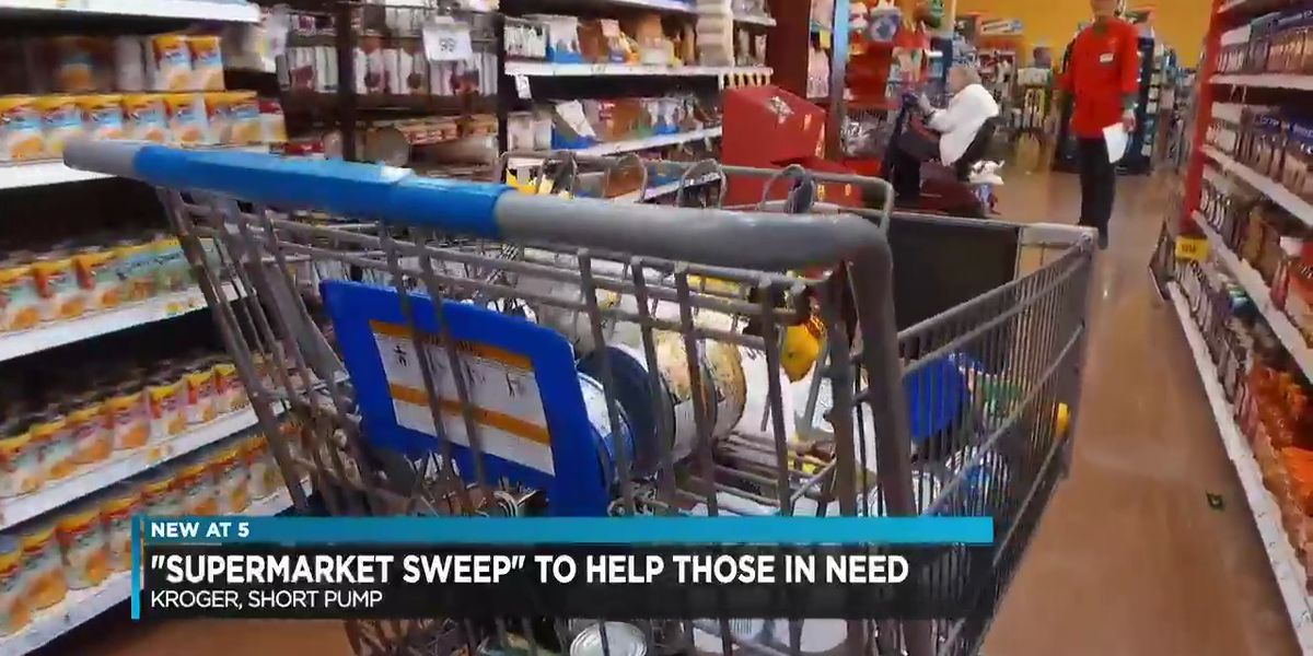 Celebrity shoppers race to end hunger in supermarket sweep