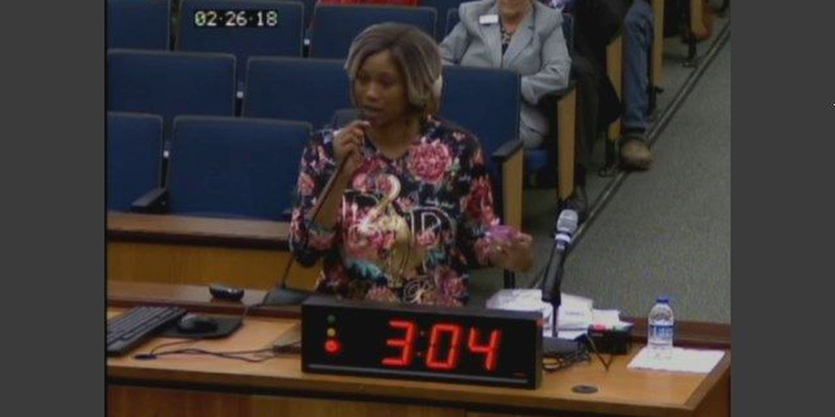 Woman brings 'embryo egg' to council meeting, upset at living conditions
