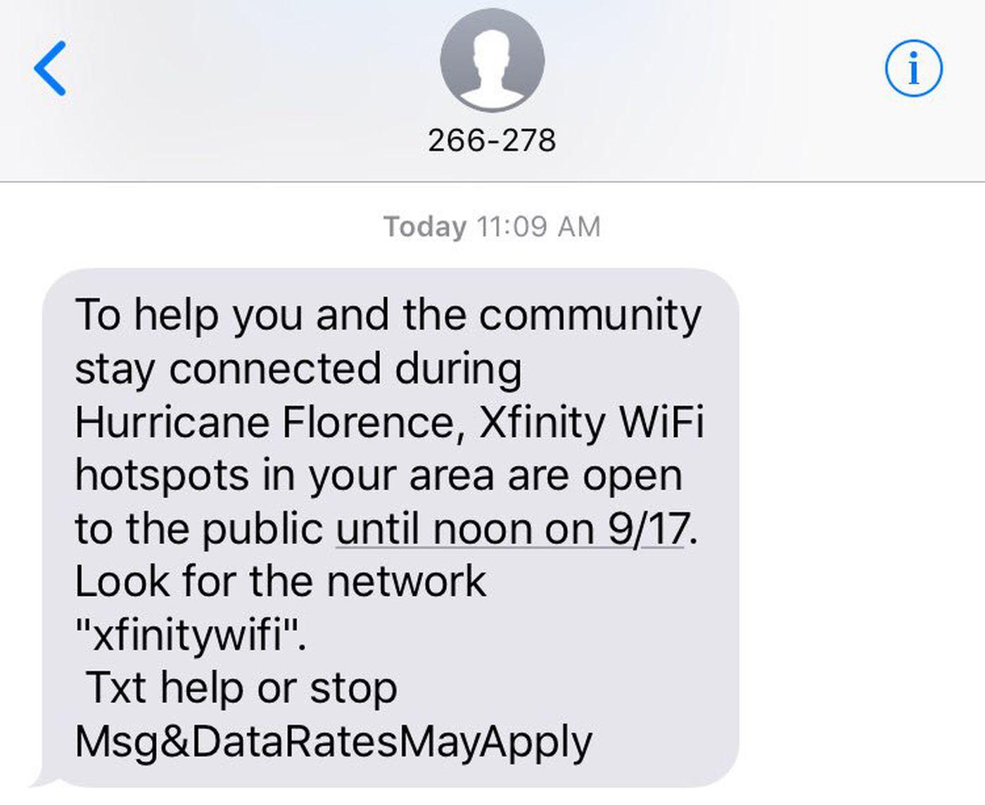 Xfinity Free Wifi