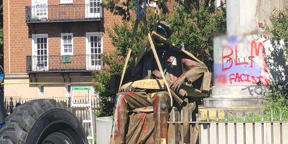 Crews remove Maury statue on Monument Avenue
