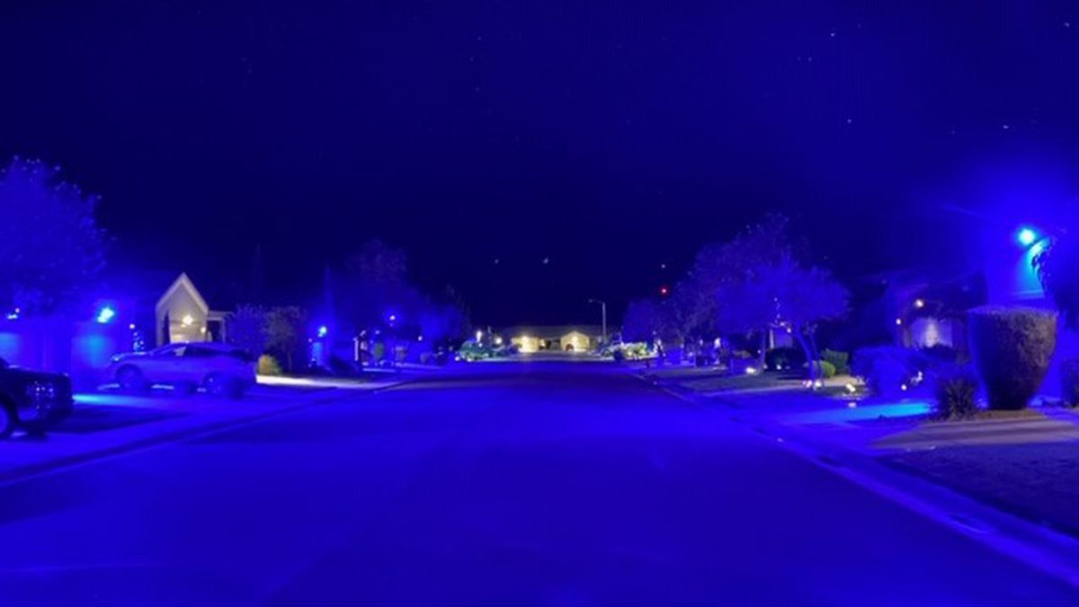 Entire Neighborhood Lights Up Blue In Show Of Amazing Support For Law Enforcement